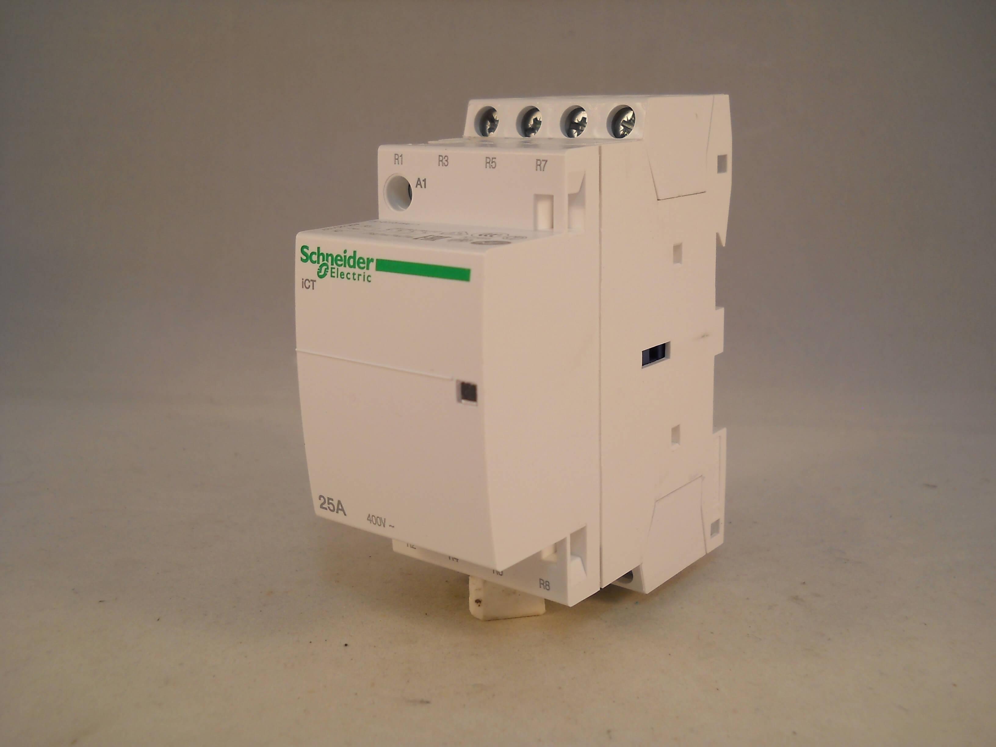 schneider ict 25a contactor wiring diagram rj45 phone jack 25 amp 4 pole 24vac coil n c acti 9