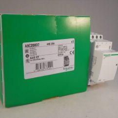 Schneider Ict 25a Contactor Wiring Diagram Best Software 25 Amp 4 Pole 240vac Coil N C Acti 9