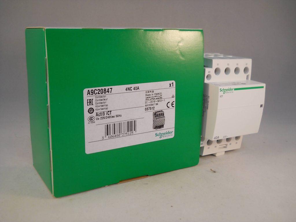 schneider ict 25a contactor wiring diagram scholastic venn template 40 amp 4 pole 240vac coil n c acti 9