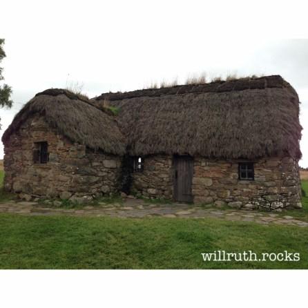 Leanach Farmhouse on Culloden Moor, in den Büchern nicht so ganz historisch korrekt, aber irgendwie doch passend untergebracht
