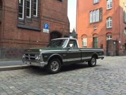 Schicker Truck in der Speicherstadt