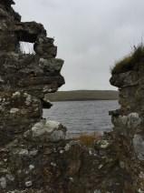 Blick auf Loch Finlaggan von Ruine aus