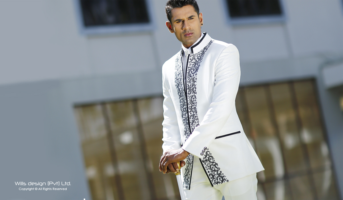 Wills Design Private LTD  Bespoke Tailoring Sri Lanka  WDCL1495A  Embroidered Wedding Suit