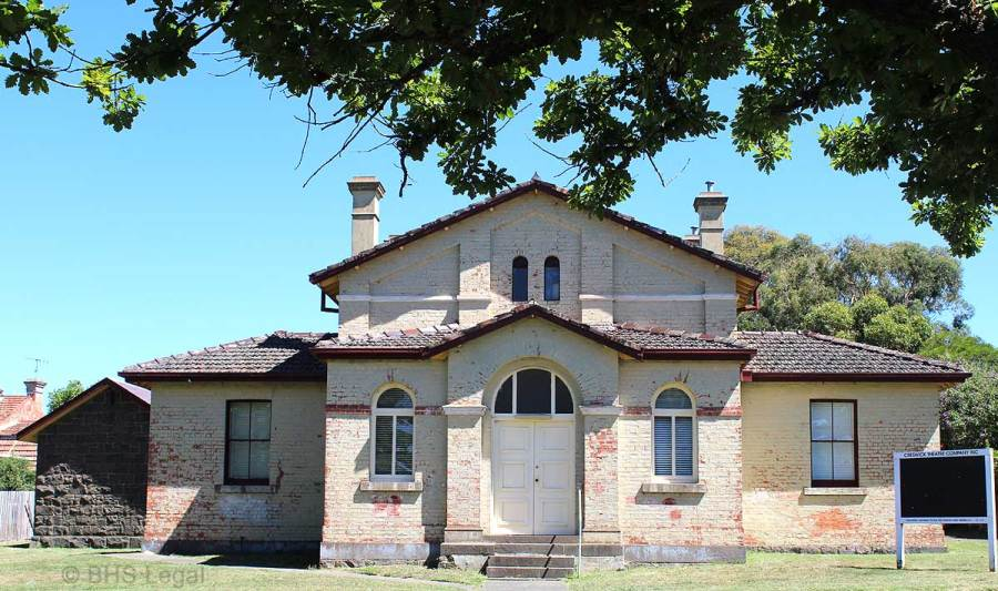 Creswick Courthouse, Victoria, early Australian courthouses, Australian legal history,