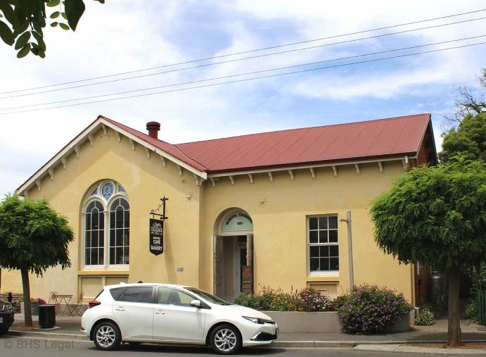Former Evandale Courthouse, Tasmania, early Australian courthouses, Australian legal history, old Australian courthouses,