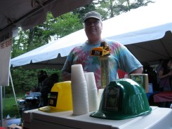 Watson at a recent brewfest in Naugatuck, Conn., with his Dozer IPA.