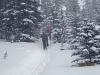 As we near the Lake the snow got heavier