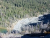 Tarn and rock pile below