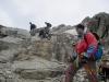 Descending below the summit