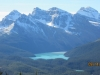 Peyto Lake with Mt Jimmy Simpson foreground & Mt Thompson
