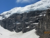 Route up the glacier called the Death Trap to the Abbot Hut