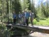 Lead group on second bridge