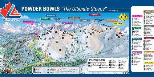 Map Of Ptarmigan/Paradise/Back Bowls