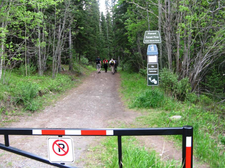 Gate at start of hike
