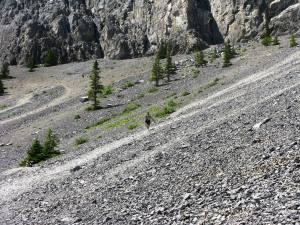 The big scree slope