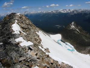 Beautifull coloured Tarn from the summit