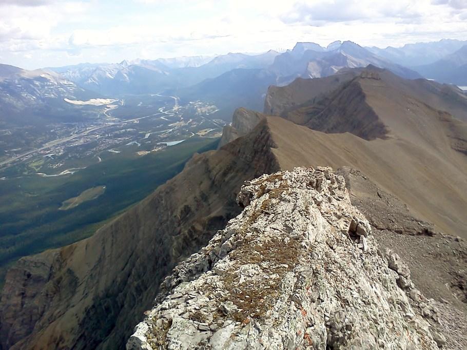Looking down the ridge to EEOR