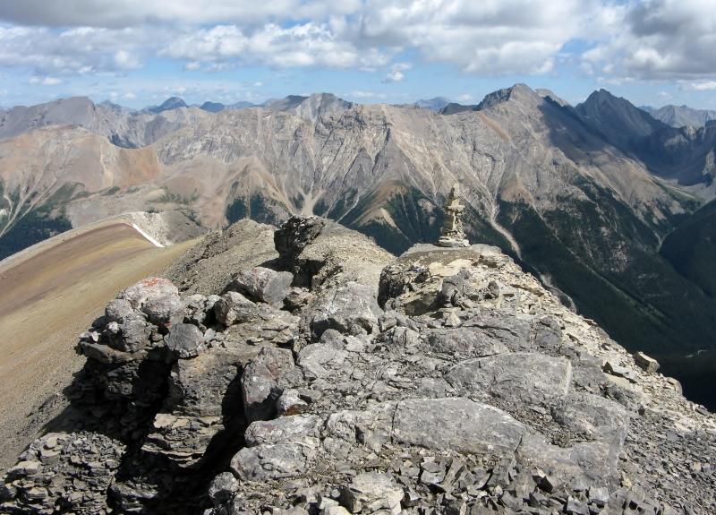 Helena Cairn just below the summit