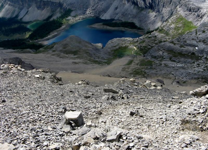 Rockbound Lake & the route off Helena to Stuart Knob
