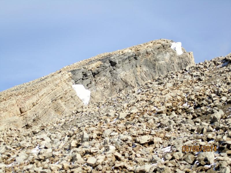 Summit in sight along ridge