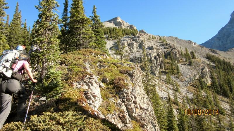 Starting on the ridge. Summit top center