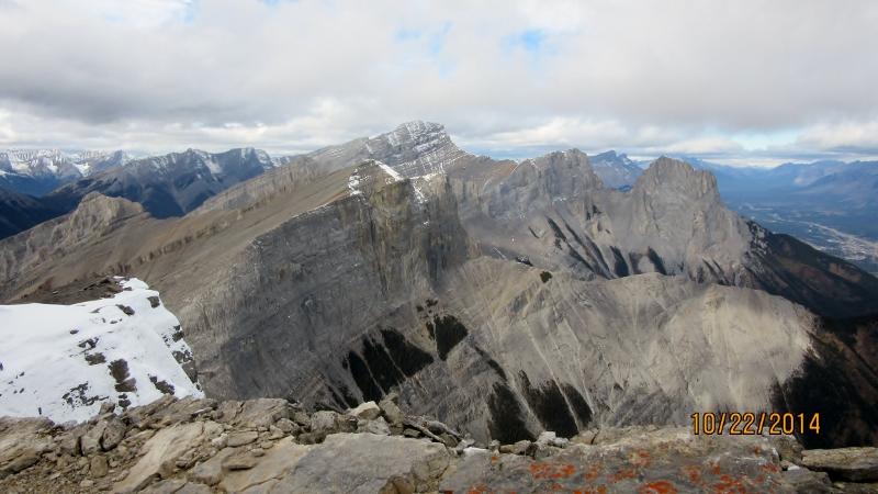 Three Sisters & Rimwall from Summit