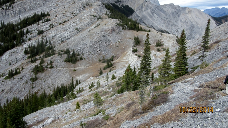 Trails coming up to Weat Wind Pass