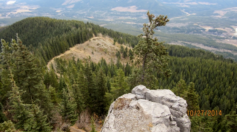 Trail below at Praire Lookout