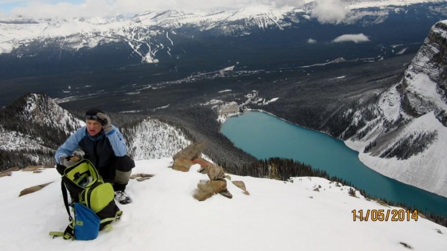 Doug & Chateau Lake Louise below