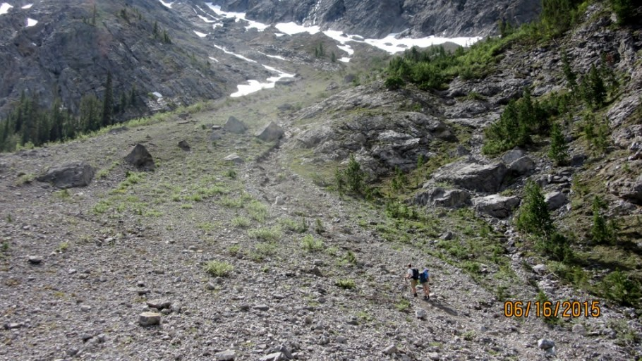 Route up to the Glacier