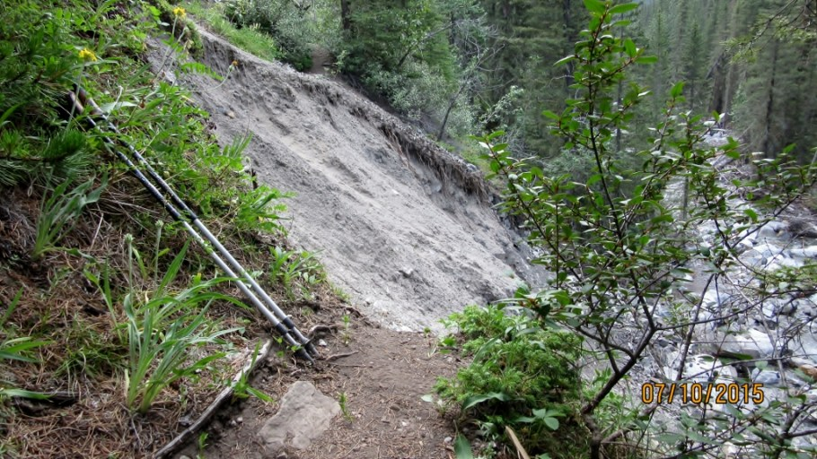 The Memorial Trail is not repaired
