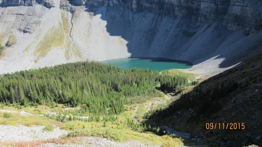 Bourgeau Lake under Mt Bourgeau