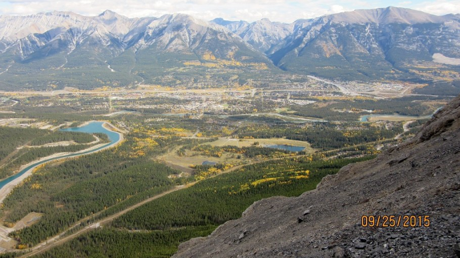 View of Canmore in the fall