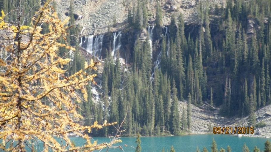 The Seven Veils Falls and Lake O'Hara