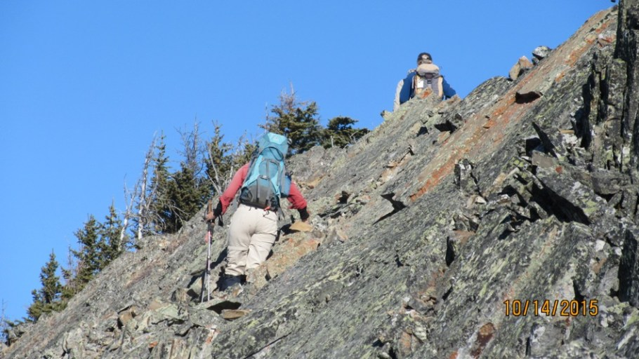 Nice solid rock before the summit of Lawson ridge