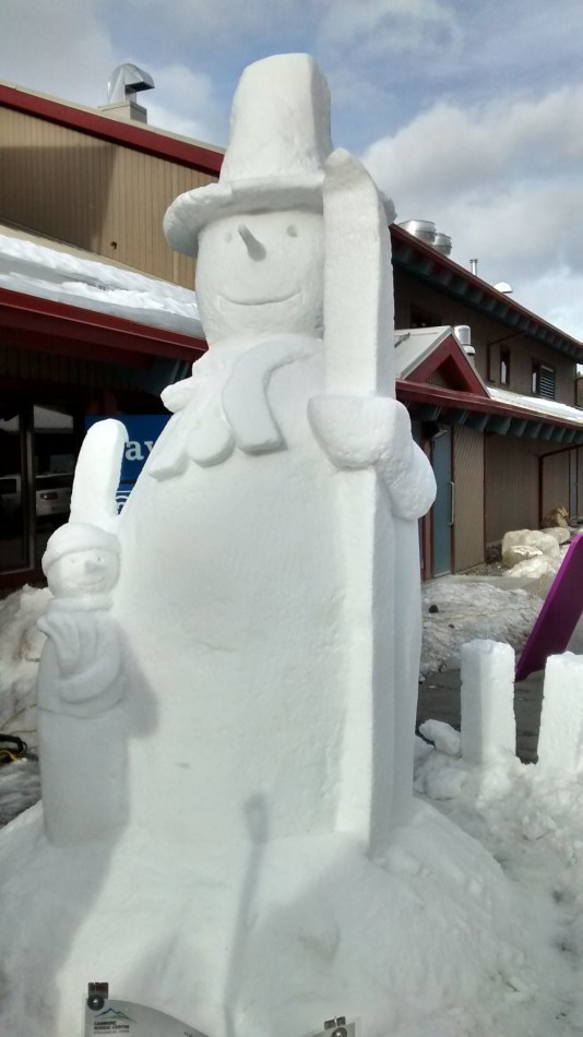 Snow Sculpture at the Worlds Biathlon Canmore Nordic Center