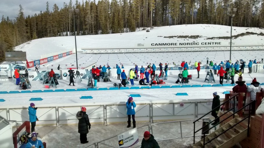 Shooting Range for the Biathlon Canmore Nordic Center