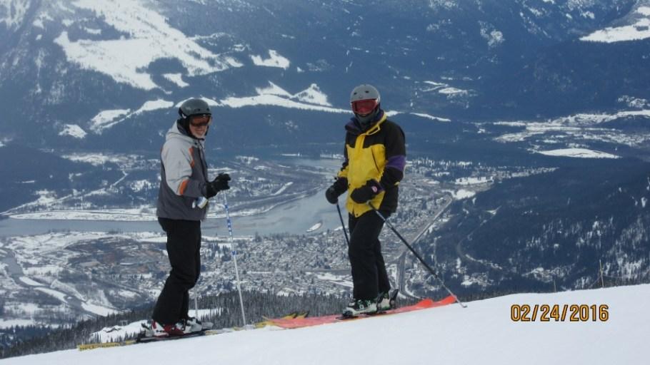 Greg & Kerry with Revelstoke way below