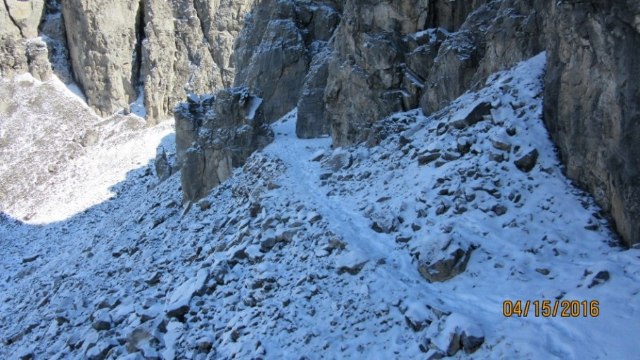 Trail through the crux
