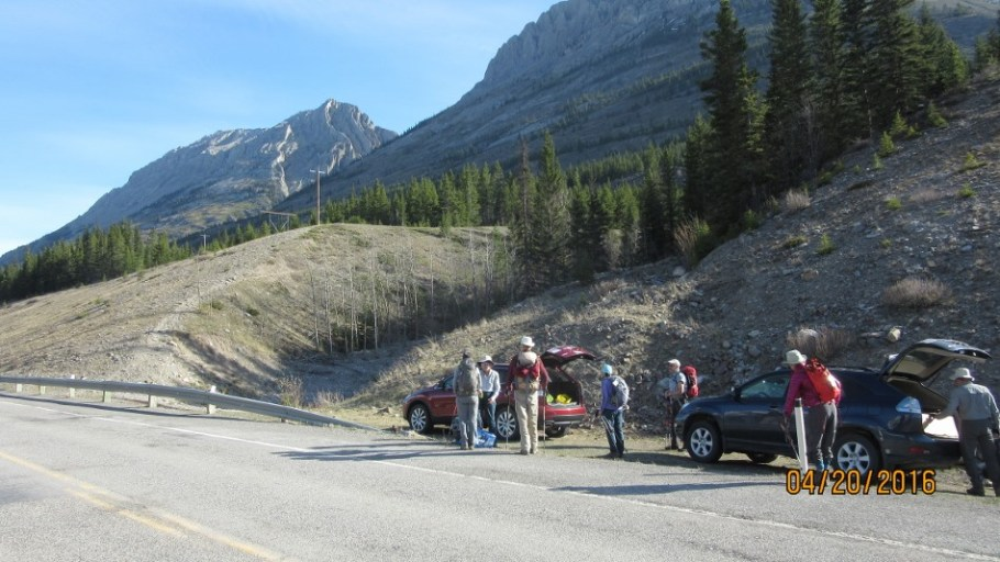 Gathering at the trailhead