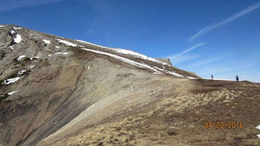 At the flat Saddle summit left