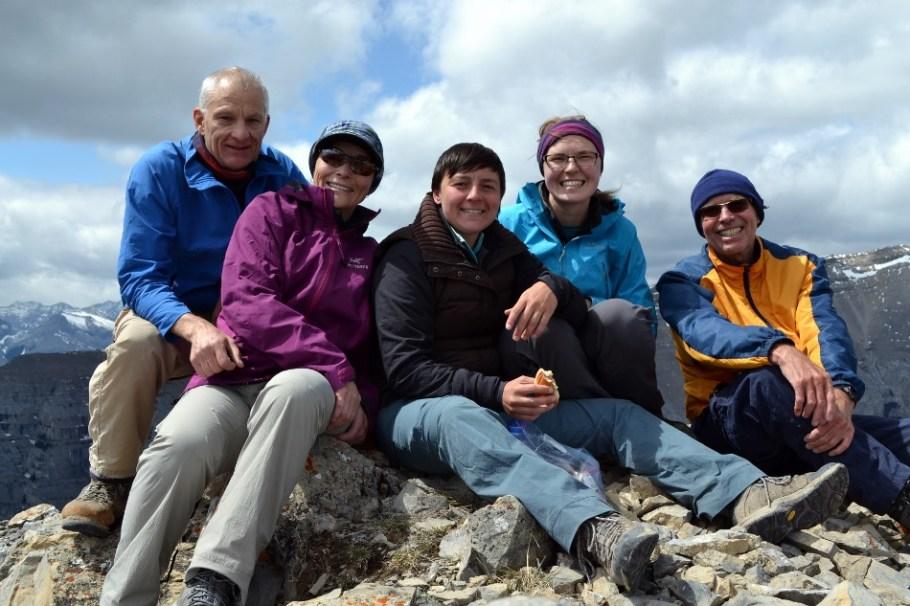 All of us on top of Gap Peak