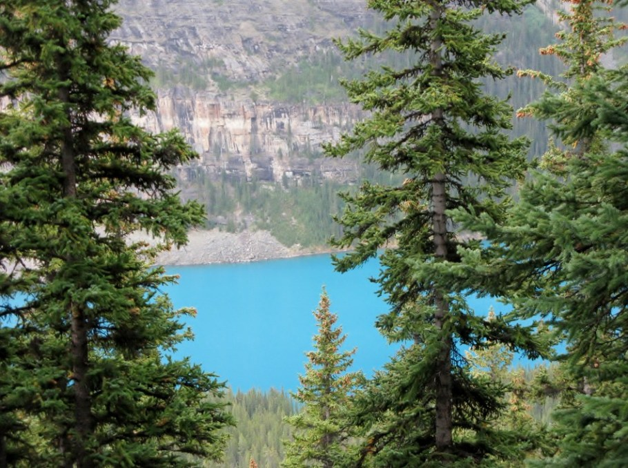 Emerald hue of Lake Moraine