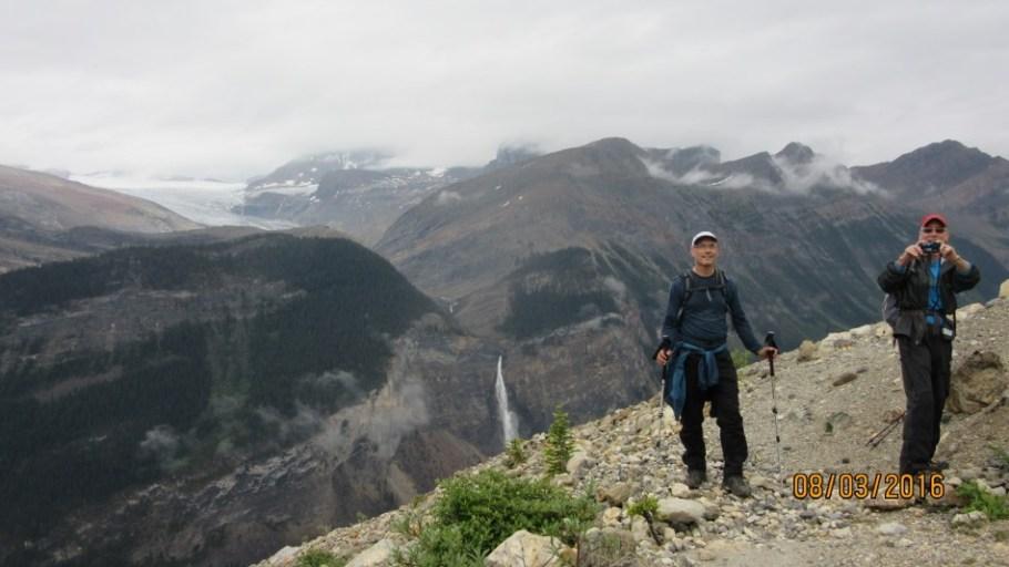 Below the glacier with Takakkaw Falls