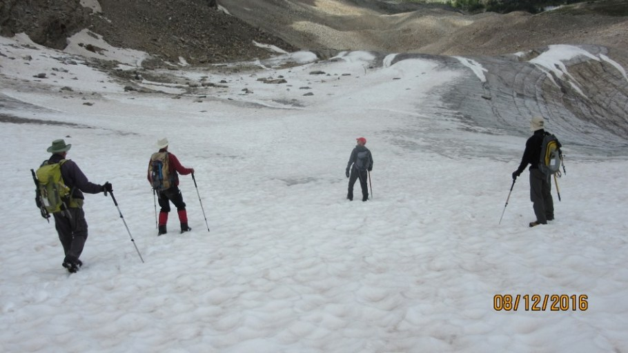 On the glacier lower down