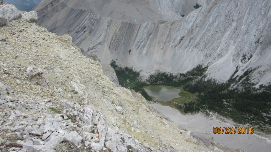 Picklejar Lake from the Peak of Lineham Ridge