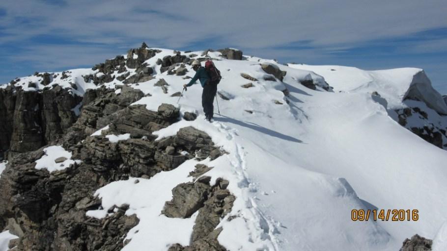 Mt Weed summit ridge