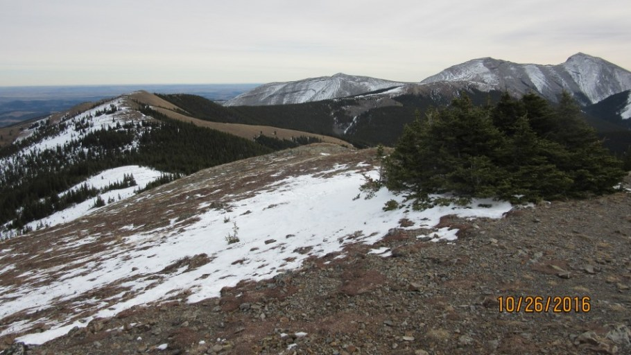 Looking down the ridge to Cox Hill