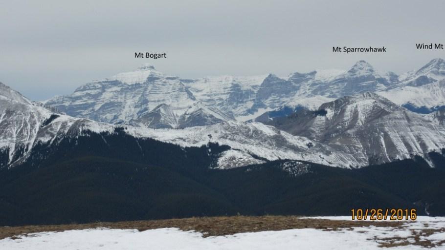 Looking toward the Spray Lake Mountains