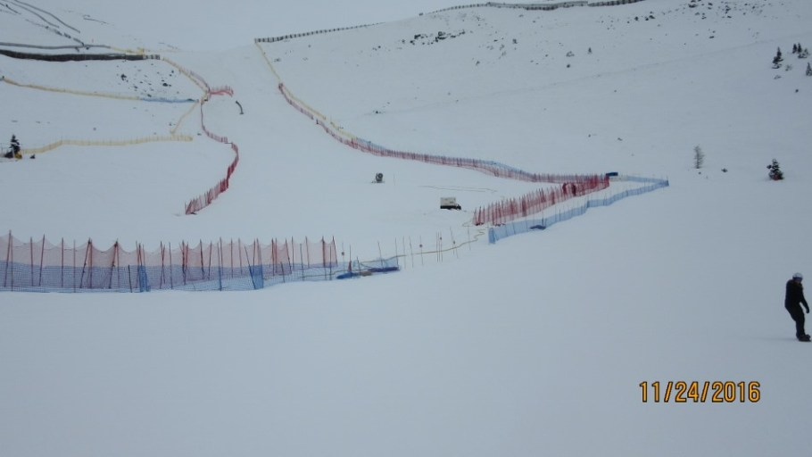 This is the Mens and Ladies downhill run
